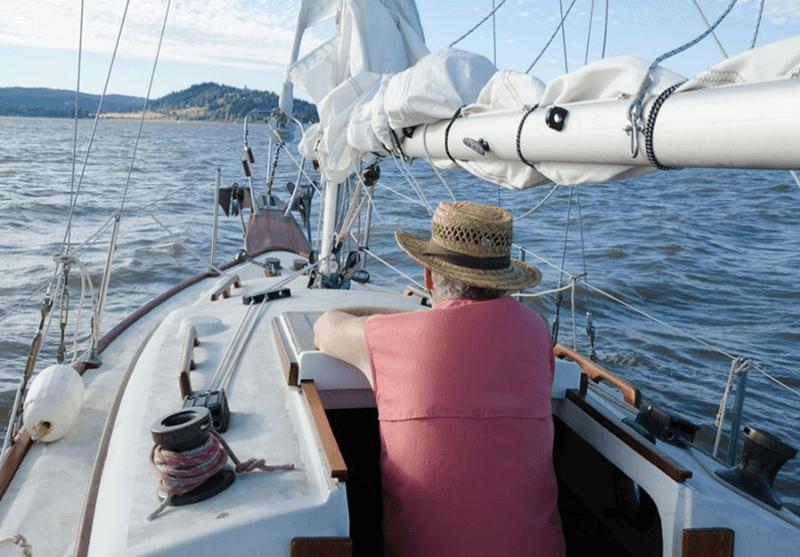 Marcom-A ook stoere zeezeilers zitten af en toe om een praatje verlegen